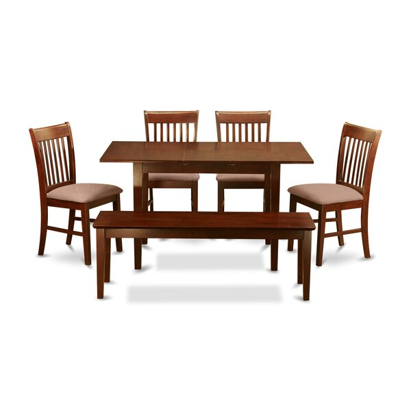 Balfor 6 Piece Extendable Dining Set by Andover Mills Andover Mills