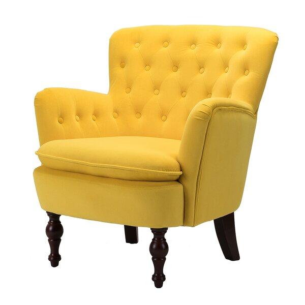 Didonato Velvet Tufted Upholstered Armchair By Charlton Home