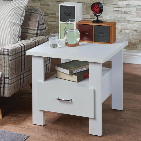 Quirke Square 1 Drawer Wood Nightstand By Ebern Designs