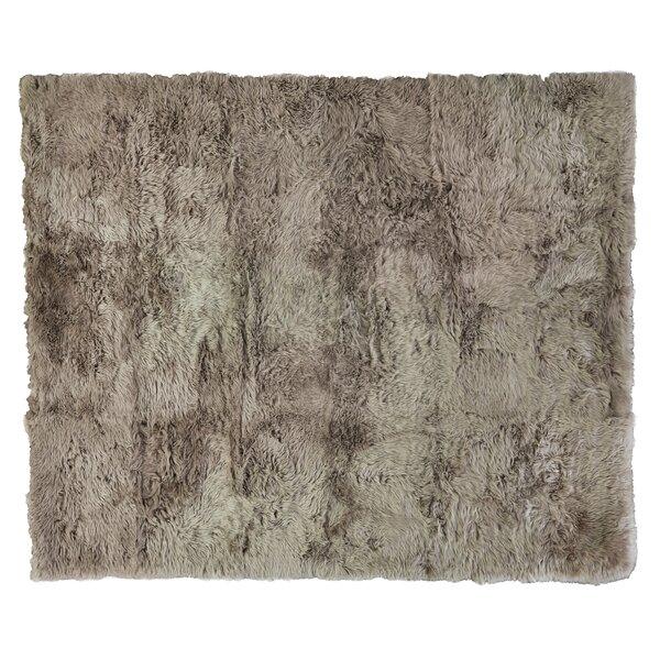 Hand woven Sheepskin Brown Area Rug by Exquisite Rugs