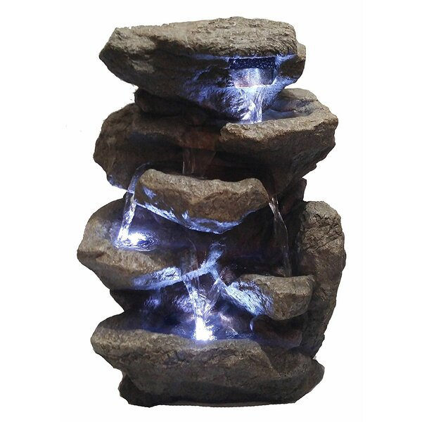 Decorative Fengshui Waterfall Fountain with LED Light by Major-Q