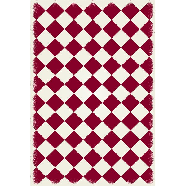 Jonesberg Diamond European Red/White Indoor/Outdoor Area Rug by Winston Porter
