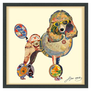 'Poodle' by Alex Zeng Framed Graphic Art Print by Latitude Run