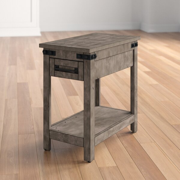 Kemmerer Drawer End Table By Three Posts