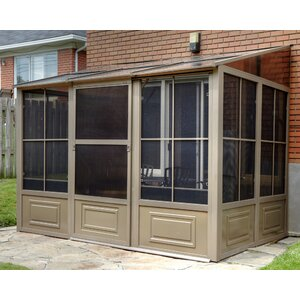 All Season Add-A-Room 12 Ft. W x 10 Ft. D Aluminum Wall-Mounted Gazebo