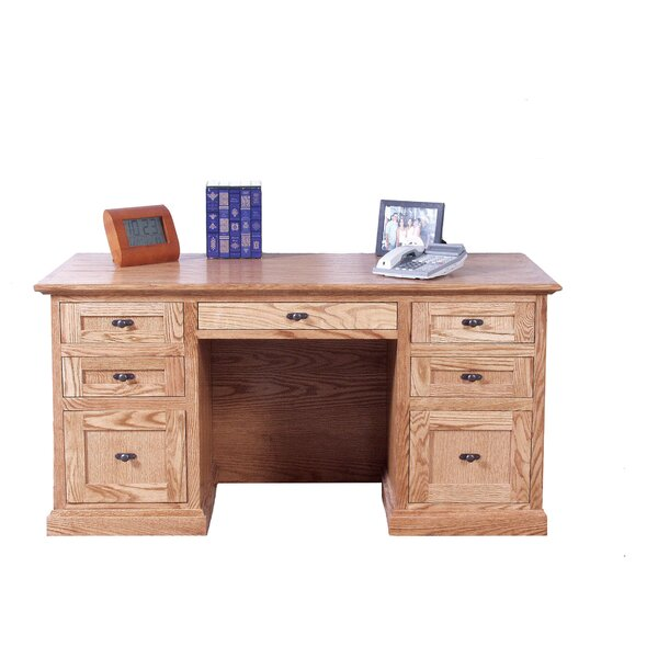Jeffers Double Pedestal Executive Desk by Loon Peak