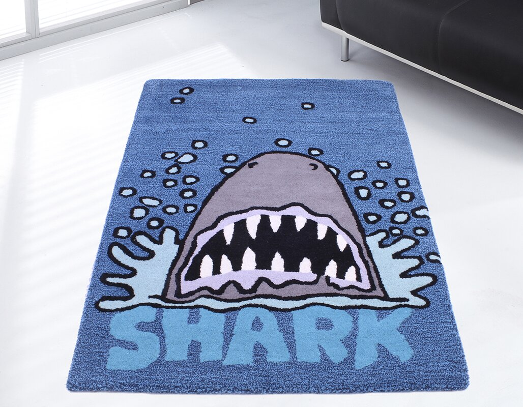 ultimate rug co teppich kids unique collection shark. Black Bedroom Furniture Sets. Home Design Ideas