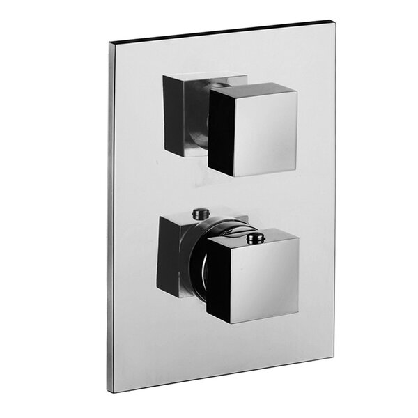 Level Concealed Thermostatic Three Outlet Diverter Knob Shower Faucet Trim by WS Bath Collections