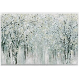 'Winter Mist' Print on Wrapped Canvas by Gracie Oaks