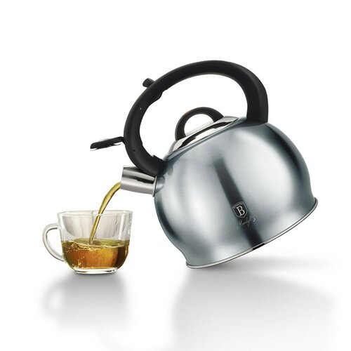 3L Stainless Steel Whistling Stovetop Kettle Berlinger Haus Colour: Grey