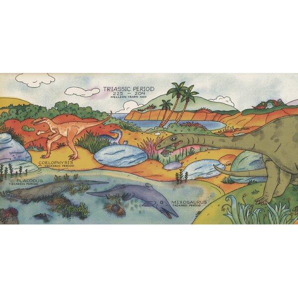 Jamaica Way Dinosaurs Species Wallpaper Border by