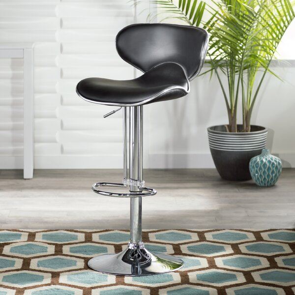 Francine Adjustable Height Swivel Bar Stool by Zipcode Design