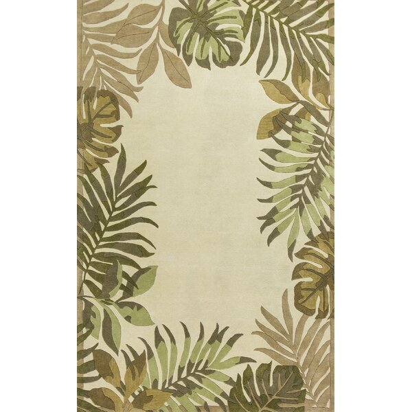 Imala Hand-Tufted Ivory Wool Area Rug by Beachcrest Home
