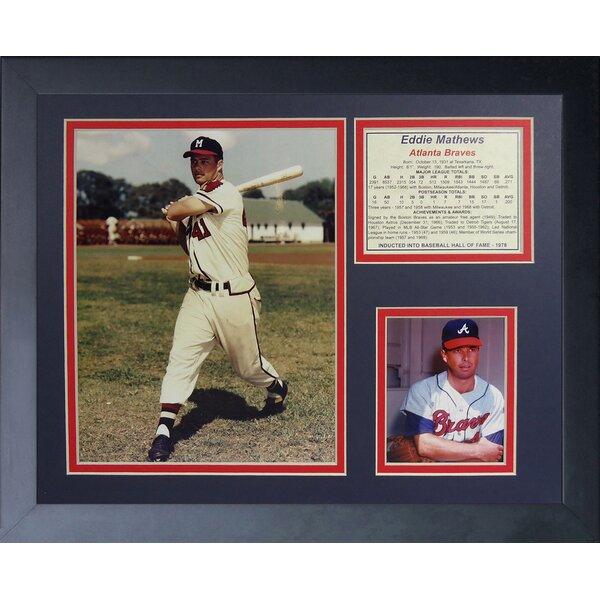 Eddie Mathews - Braves Framed Memorabilia by Legends Never Die