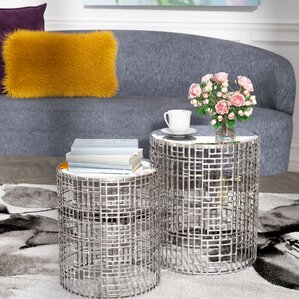 Andrews Mirror 2 Piece End Table Set by Willa Arlo Interiors