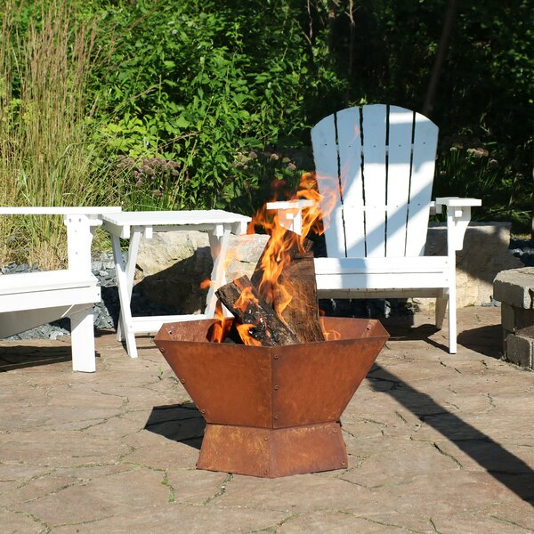Jovani Steel Wood Burning Fire Pit By Williston Forge