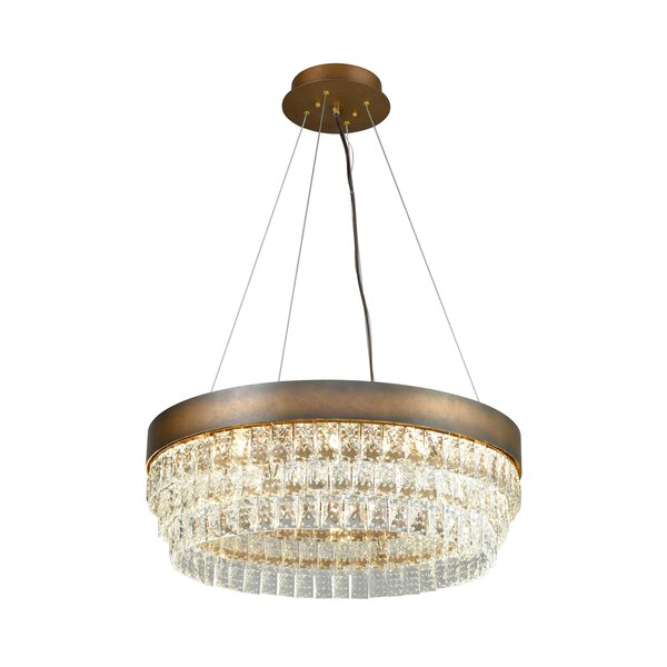 Marlowe 12-Light Unique / Statement Tiered Chandelier by House of Hampton House of Hampton