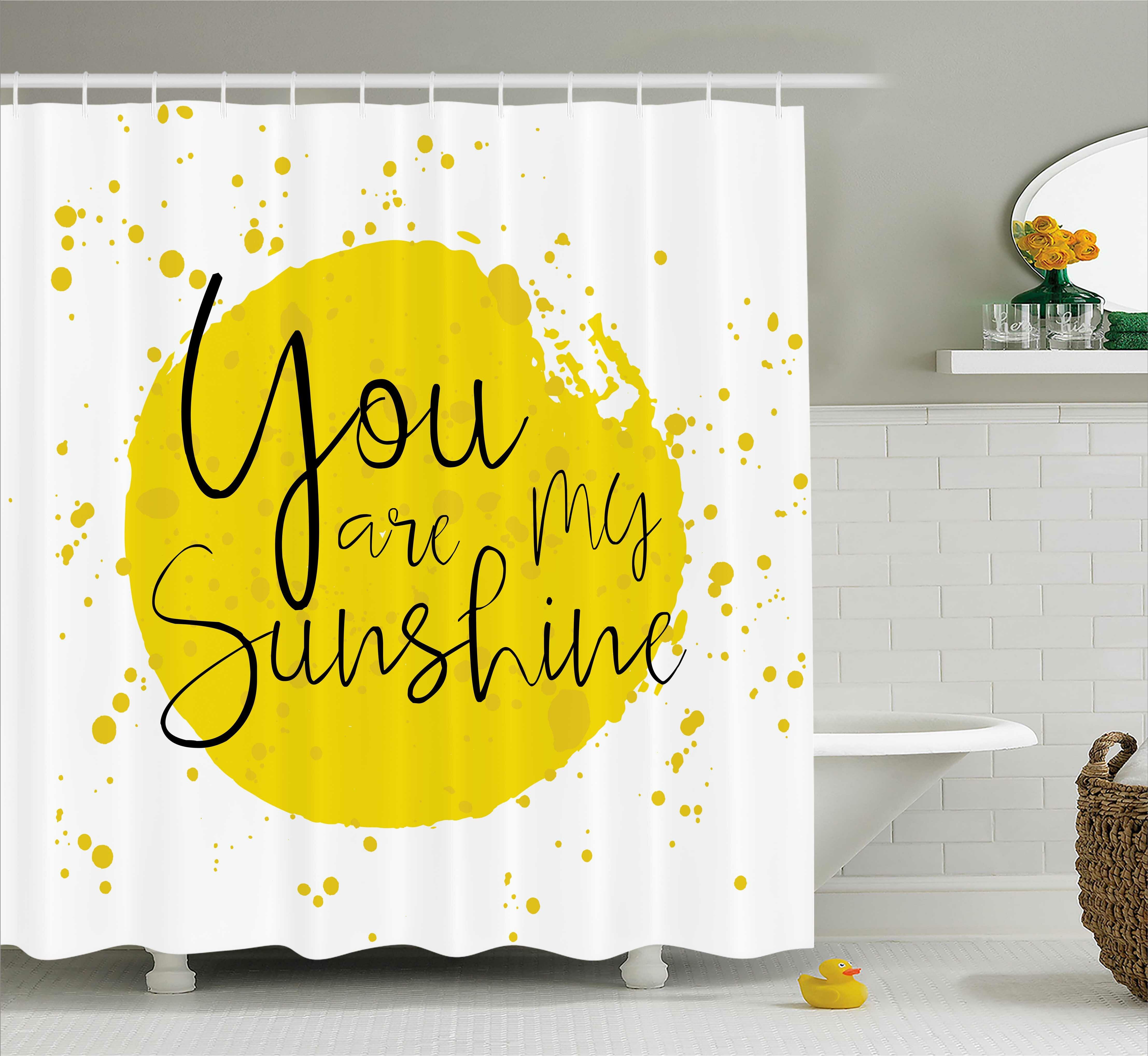 East Urban Home Circular Splash Quotes Decor Shower Curtain