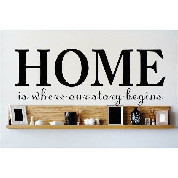 Home is Where Our Story Begins Wall Decal by Design With Vinyl