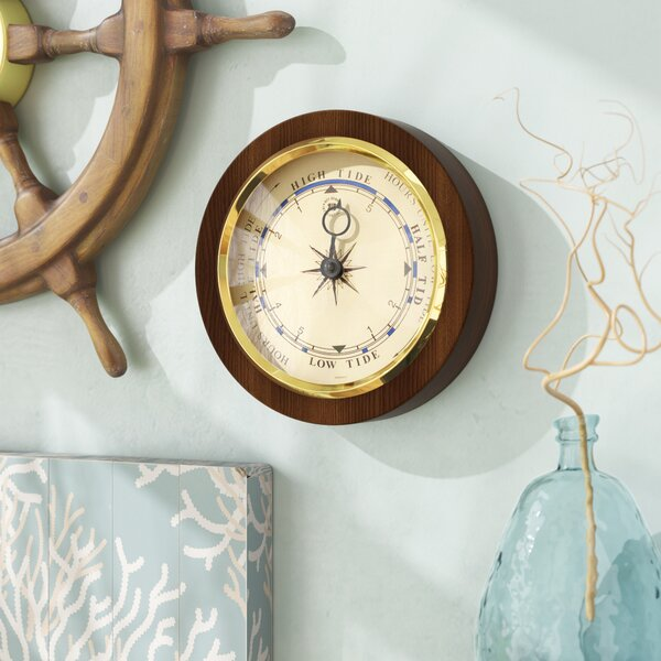 Tannen Tide Wall Clock by Beachcrest Home