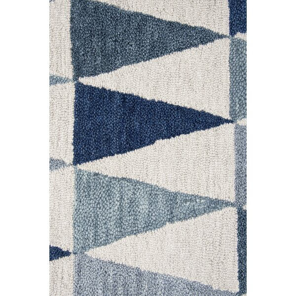 Malcolm Hand-Tufted Wool Gray/Blue Area Rug by Corrigan Studio