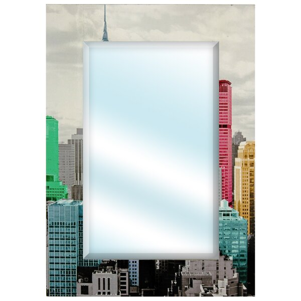 Colorful New York City Wall Mirror by Oriental Furniture