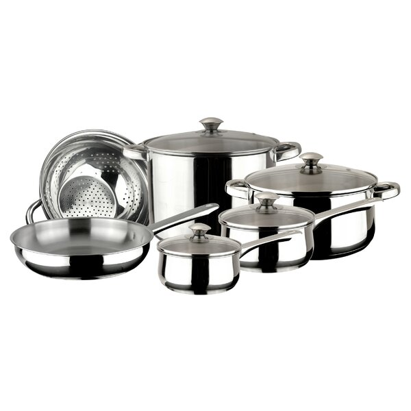 Vesta 10 Piece Stainless Steel Cookware Set by Magefesa