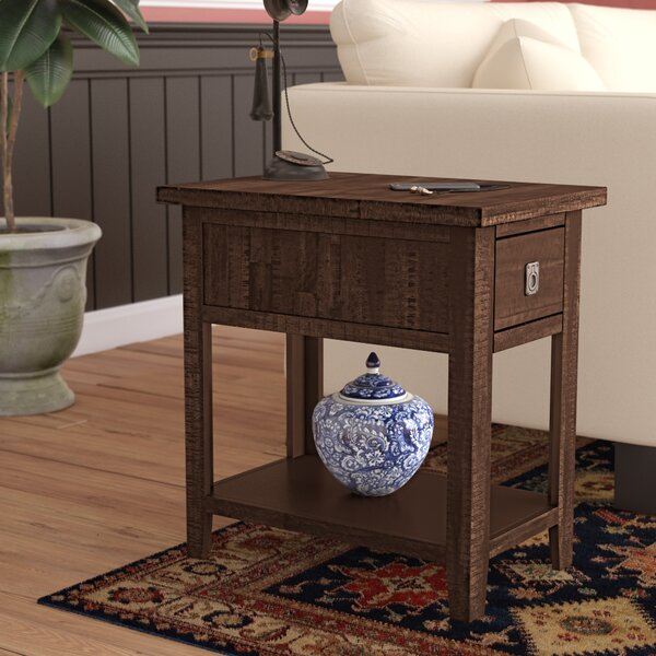 Cadwallader End Table With Storage By Darby Home Co