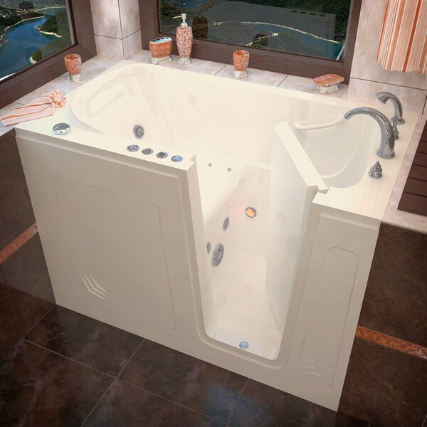 Buena Vista 54 x 30 Walk-In Air and Whirlpool Jetted Bathtub by Therapeutic Tubs
