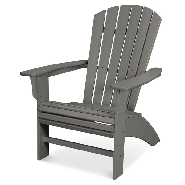 Yacht Club Curveback Plastic/Resin Adirondack Chair by Trex Outdoor Trex Outdoor