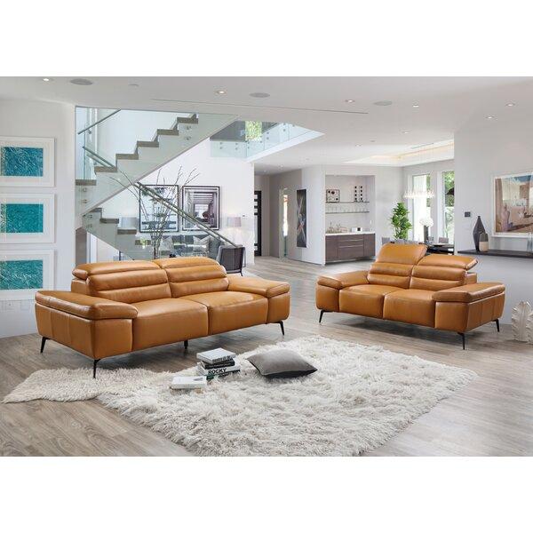 Kean Leather Configurable Living Room Set By Orren Ellis 2019 Sale