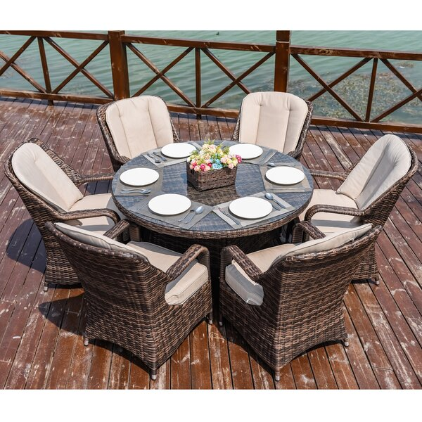 Triston 7 Piece Dining Set with Cushion by Rosecliff Heights