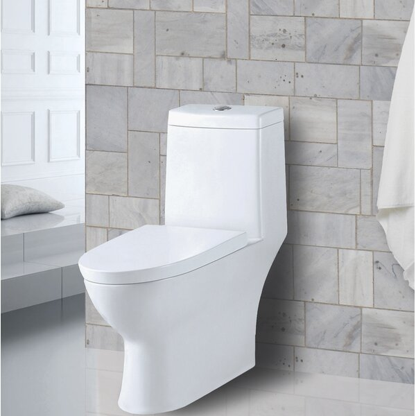 Amazon 1.28 GPF Elongated One-Piece Toilet by Aqualife Corp