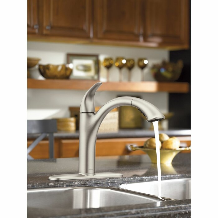 Camerist Pull Out Single Handle Kitchen Faucet with Duralock