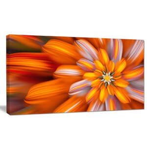 'Massive Orange Fractal Flower' Graphic Art on Wrapped Canvas by Design Art