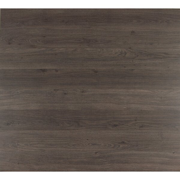 Eligna 6 x 54 x 8mm Oak Laminate Flooring in Dark Grey Varnished Oak by Quick-Step