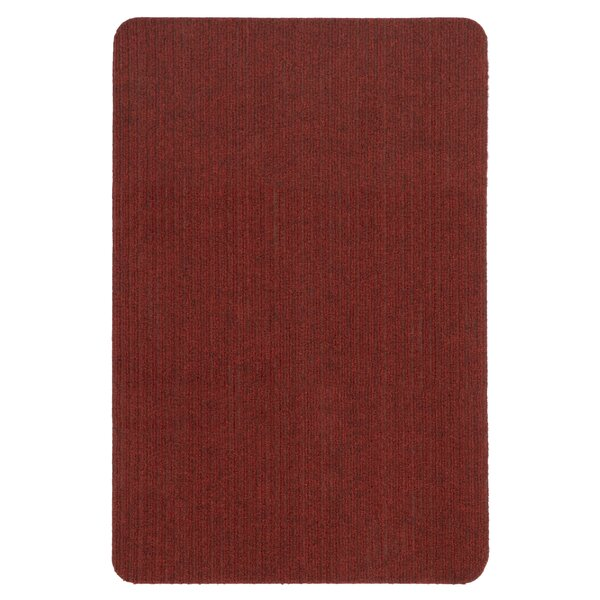 Winchell Ribbed Red Indoor/Outdoor Area Rug by Red Barrel Studio