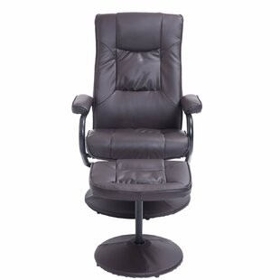 Hacker Ergonomic Manual Swivel Recliner with Ottoman Winston Porter
