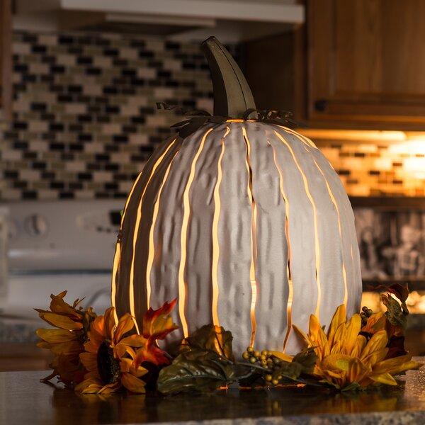 Tall White Pumpkin Luminary by Desert Steel