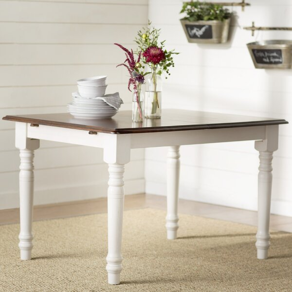 Stromberg Extendable Solid Wood Dining Table by Loon Peak