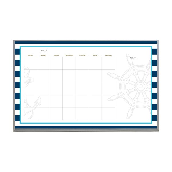 Nautical Monthly Calendar Magnetic Whiteboard by New York Blackboard