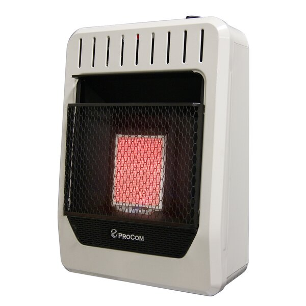 Heating Ventless Plaque Propane Infrared Wall Mounted Heater By ProCom