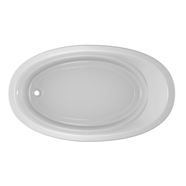Riva Bath 72 L x 42 W Drop In Soaking Bathtub by Jacuzzi®