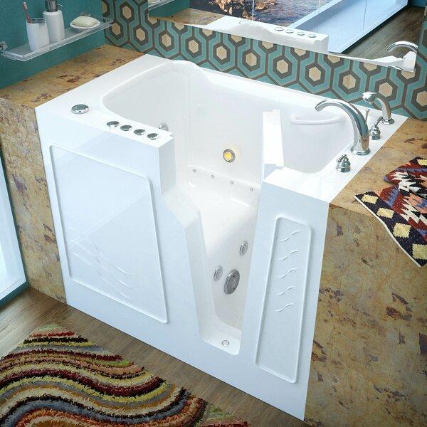 Prairie 46 x 26 Walk In Air/Whirlpool Bathtub by Therapeutic Tubs