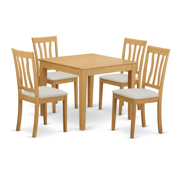 Cobleskill 5 Piece Dining Set By Alcott Hill 2019 Sale