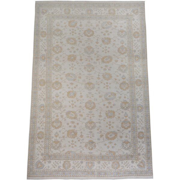 One-of-a-Kind Gladding Hand-Knotted New Age Oushak Beige 11'4 x 17'4 Wool Area Rug