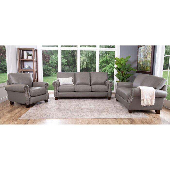 Cairnbrook 3 Piece Leather Living Room Set