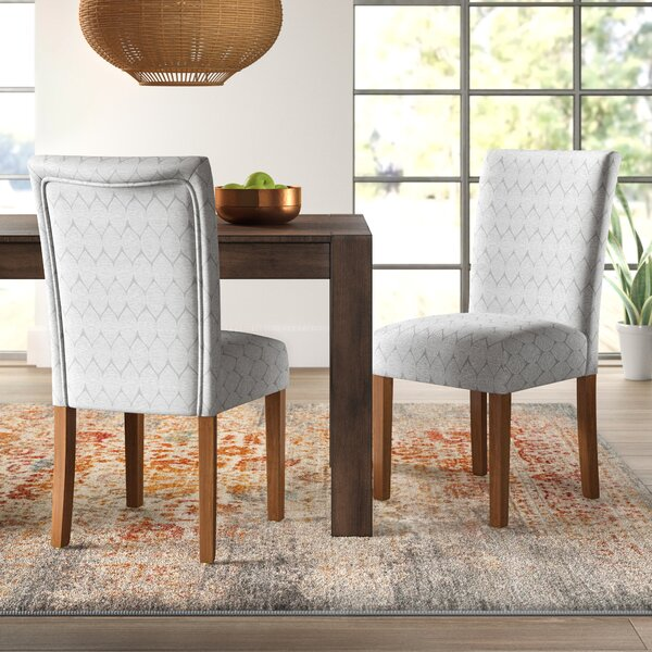 Modern Adrien Haverstraw Textured Upholstered Dining Chair (Set Of 2) By Mistana Today Sale Only