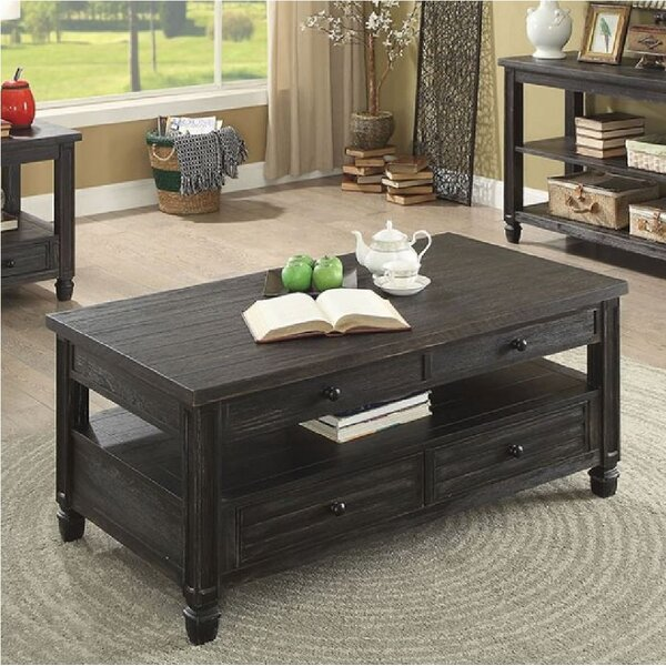 Dear Coffee Table with Storage by Highland Dunes
