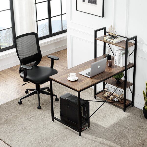 Reversible H-Shape Gaming Desk and Chair Set